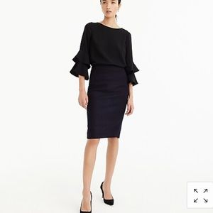 J crew No. 2 pencil skirt in double-serge wool 0